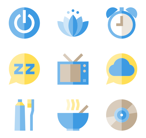 Clipart bed sleeping. Sleep icons free vector
