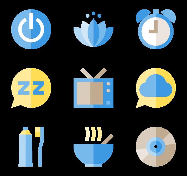 Icons free vector time. Clipart moon sleep