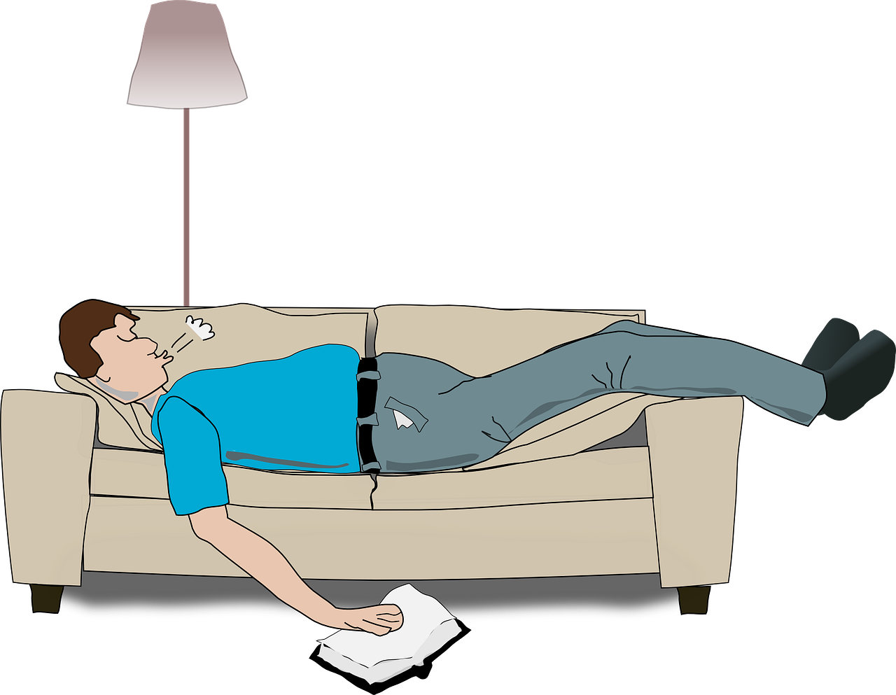 When is snoring worth. Clipart bed sleeping