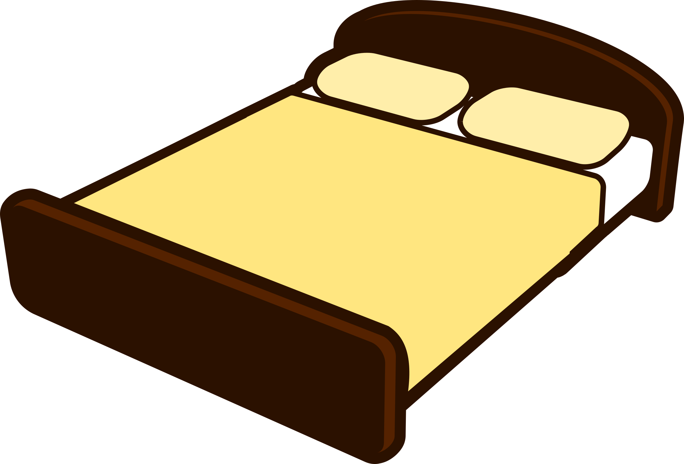 Clipart bed small bed. Tan big image png