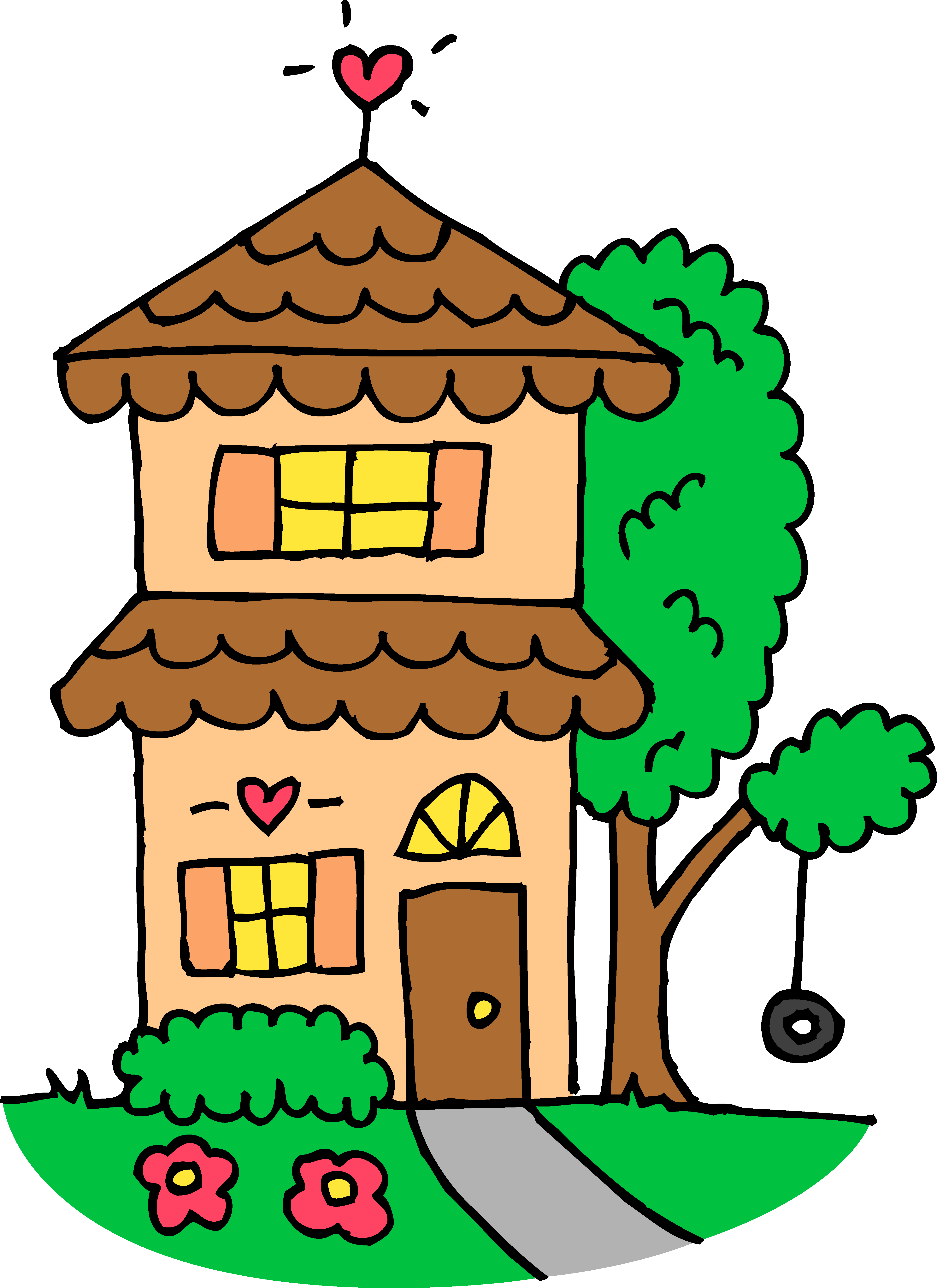 Mansion clipart inside. House drawing clip art