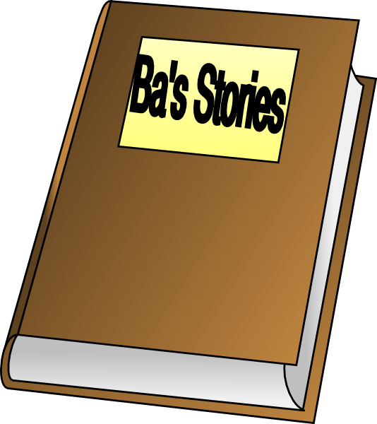 Clipart bed story. Open storybook panda free