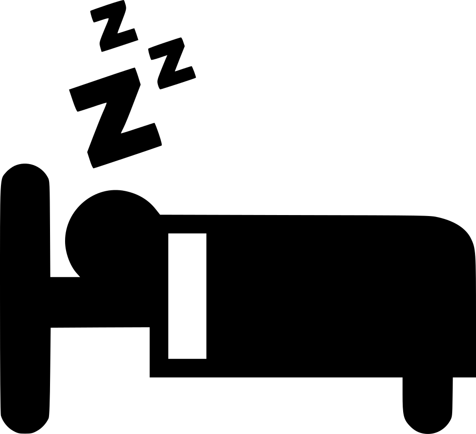 Sleep svg png icon. Clipart sleeping pretty bed