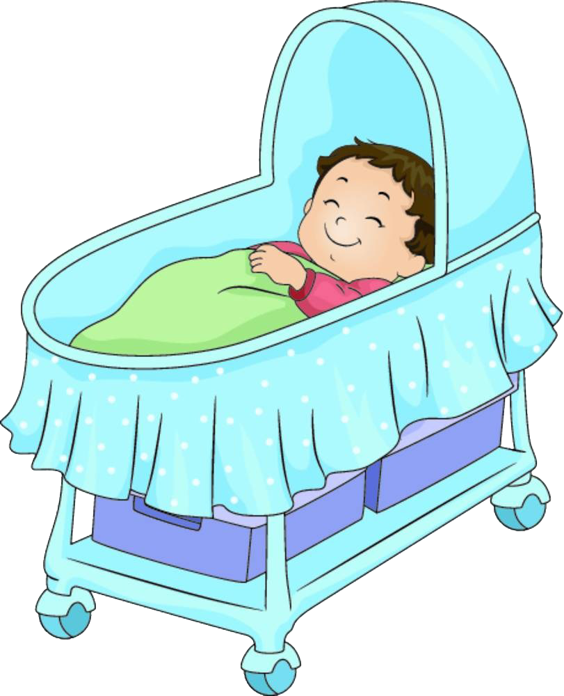 Infant clipart hospital baby. Bed cartoon illustration a