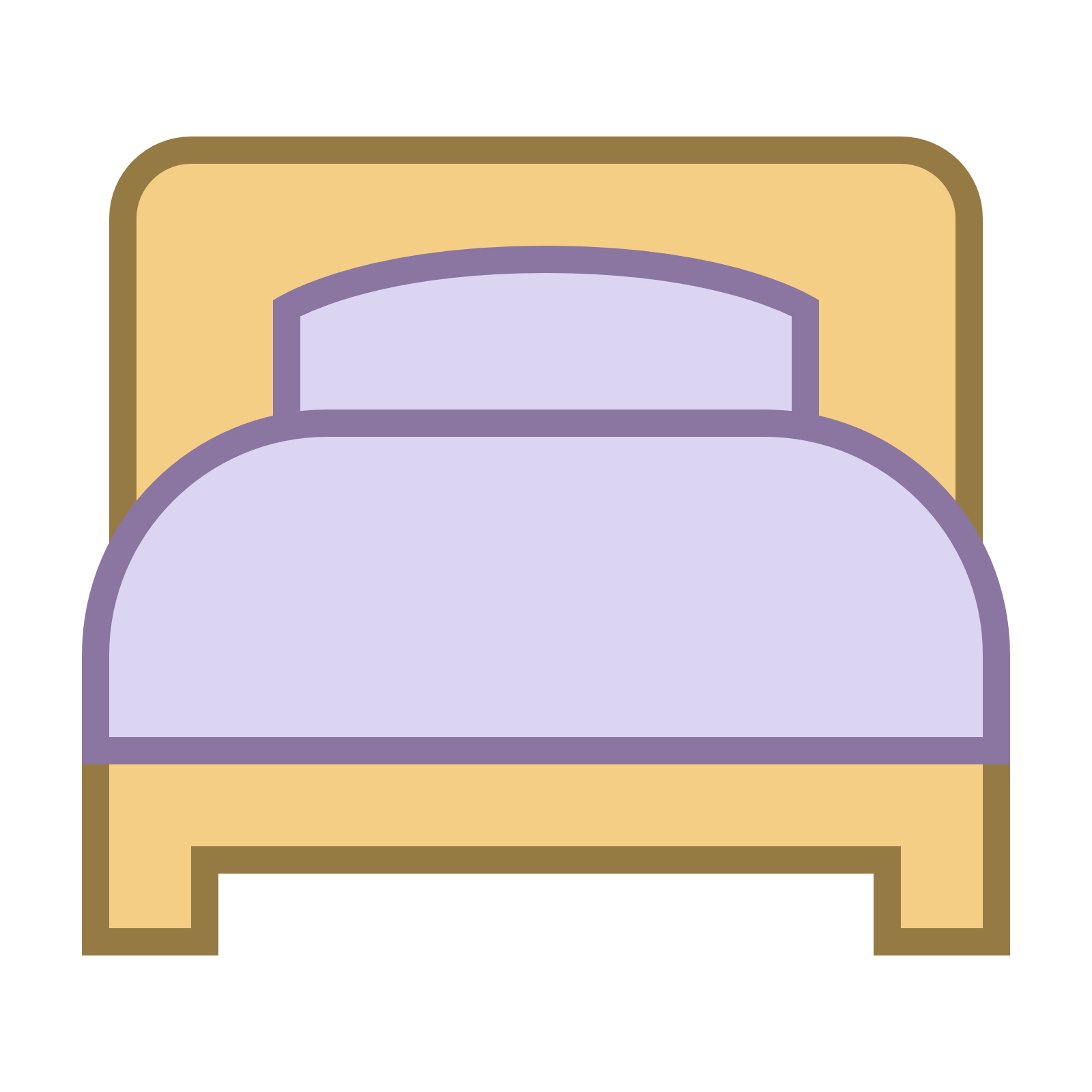 Furniture clipart top view.  best single bed