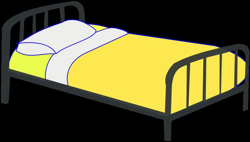 Free single bed psd. Hospital clipart bedroom