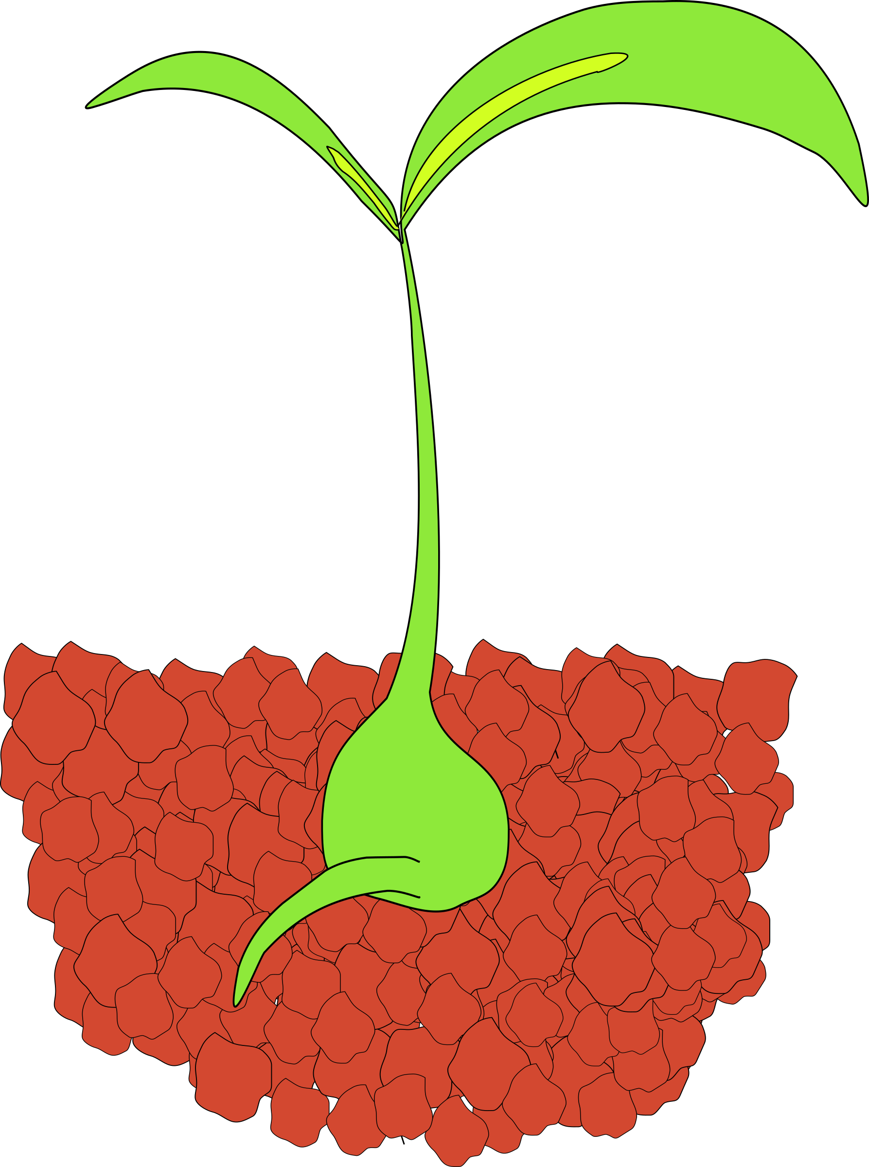 Gardening clipart plant seedling. Dirt pencil and in