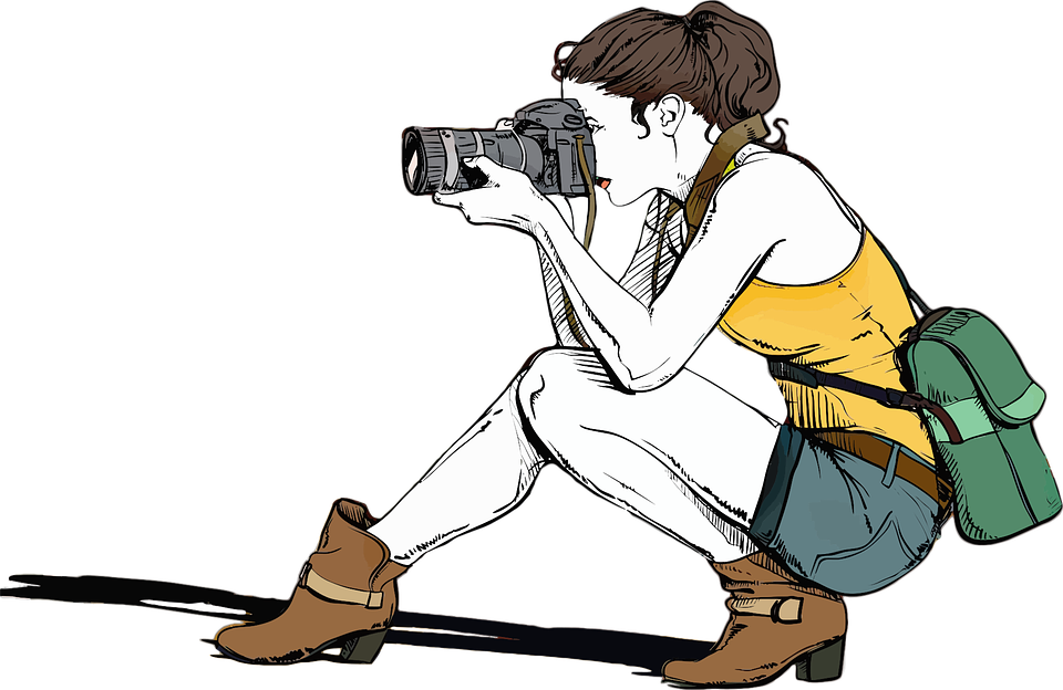 Photography clipart taken. Person with camera clip