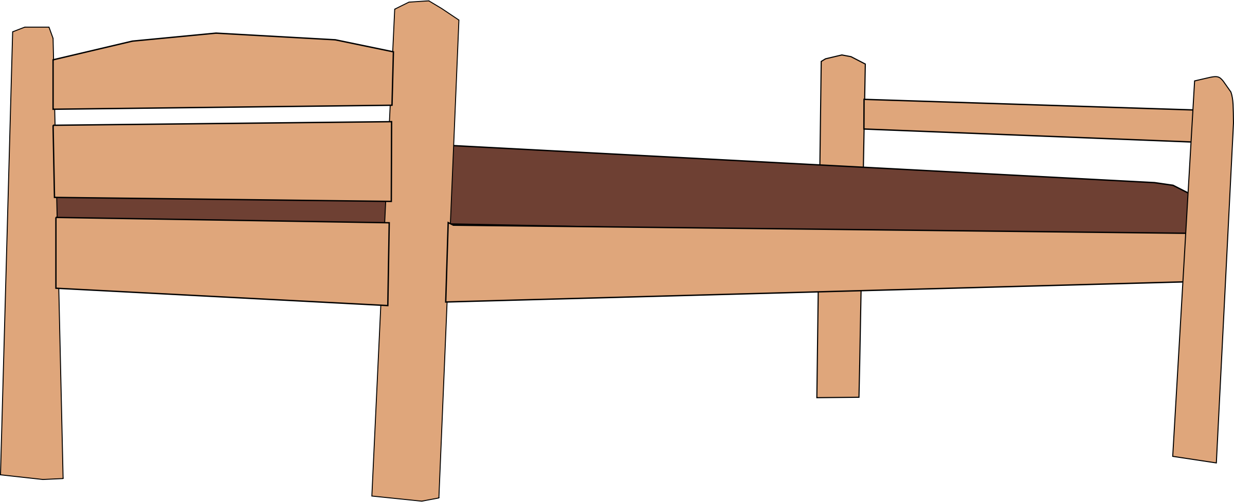 Clipart bed wooden bed. Plank big image png