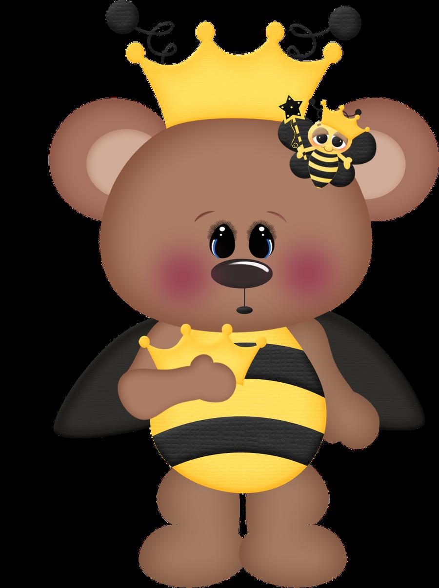 Abelhinhas minus ursinhos pinterest. Clipart bee bear
