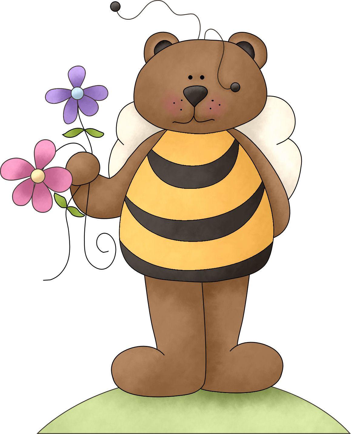 Clipart bee bear. Bears illustration