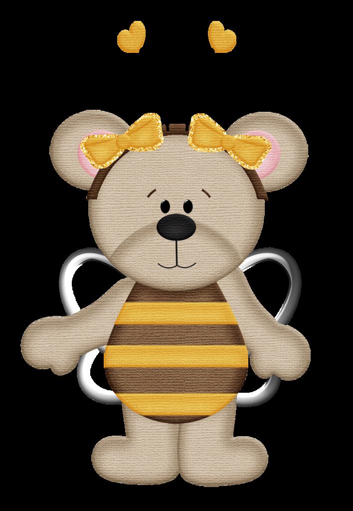 Clipart bee bear. My honey theme bees