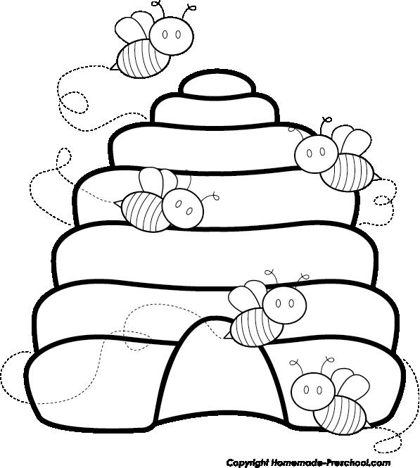 Honeycomb clipart honeybee hive. Free bee click to