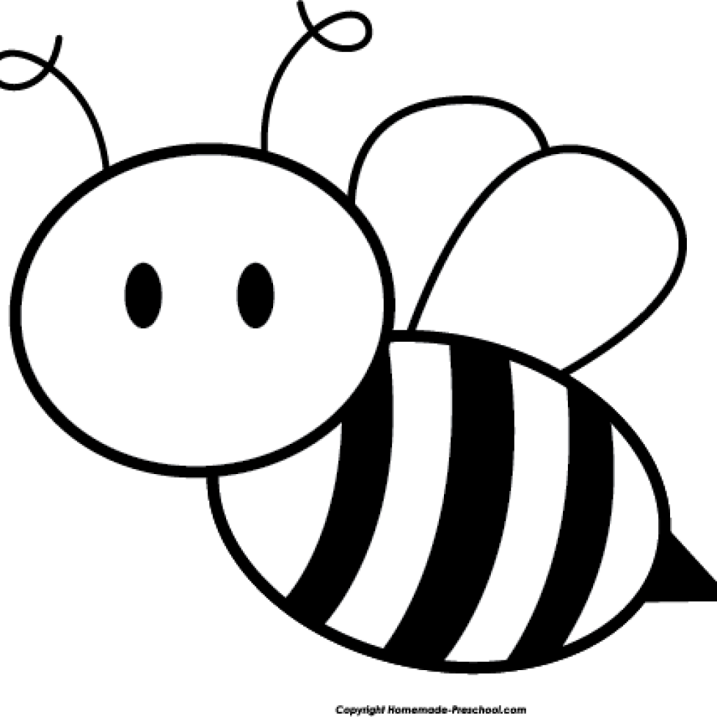 Clipart bee black and white. Butterfly hatenylo com honey