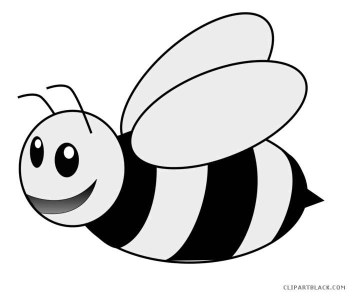 Clipart bee black and white. Busy animal free images