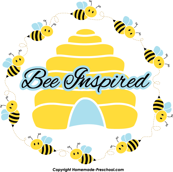 Free bee click to. Bees clipart borders
