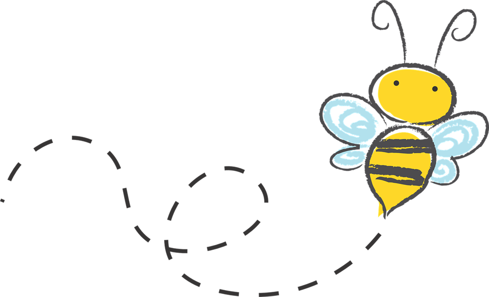 Free bee border cliparts. Trail clipart cute