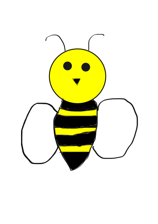 Free bumble svg file. Girly clipart bee