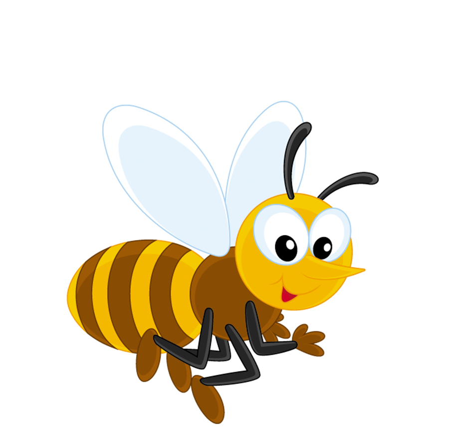 Clipart butterfly bee. Honey insect cartoon transprent
