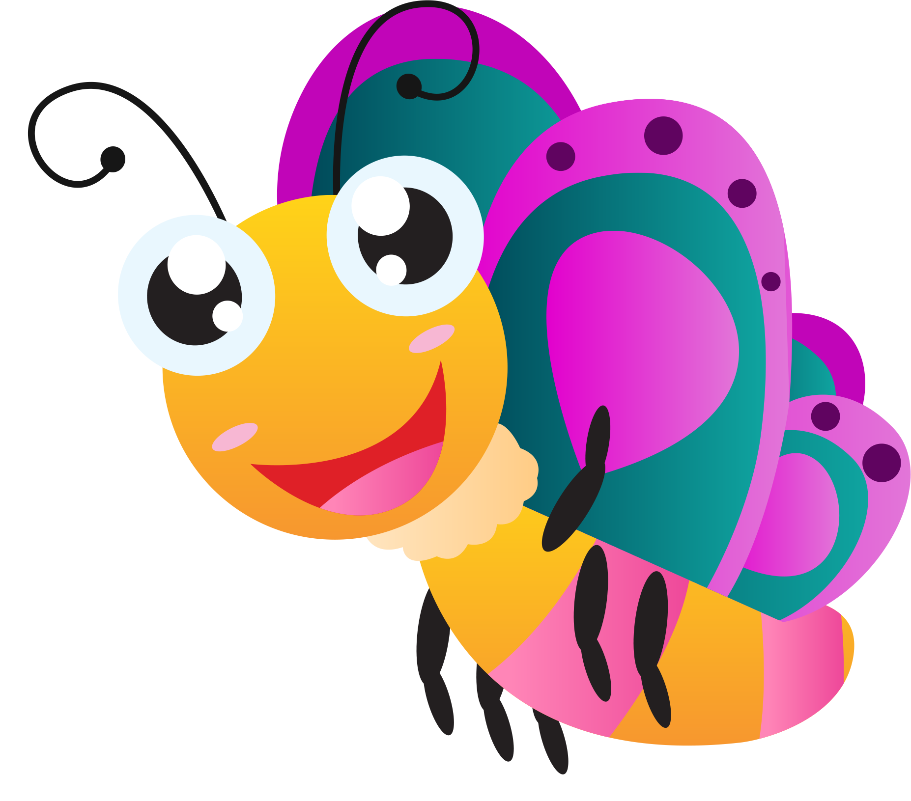Cartoon drawing clip art. Clipart butterfly bee