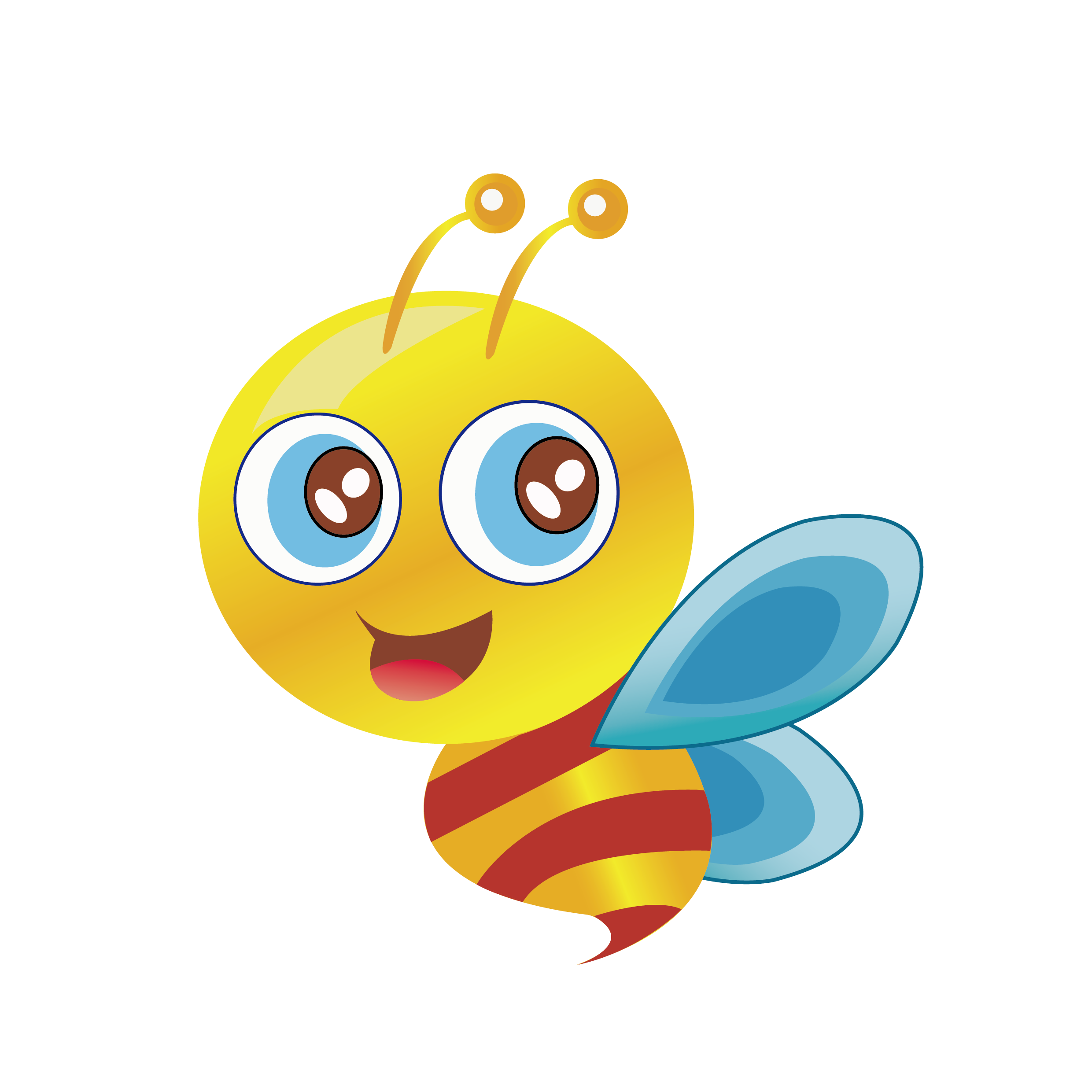 Bee clip art labor. Smiley clipart butterfly
