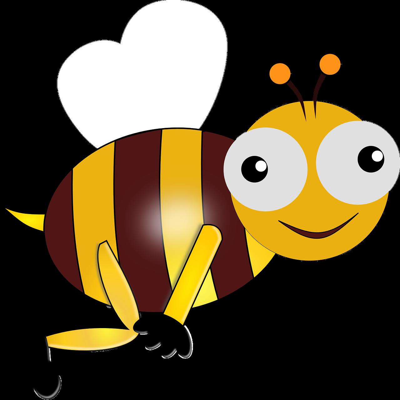 Clipart bee cartoon. Jokes clowns on rounds