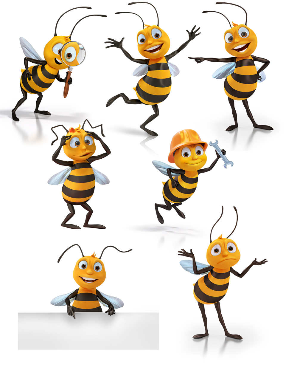 Clipart bee character. Bees mill design illustration