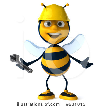 Clipart bee character. Illustration by julos