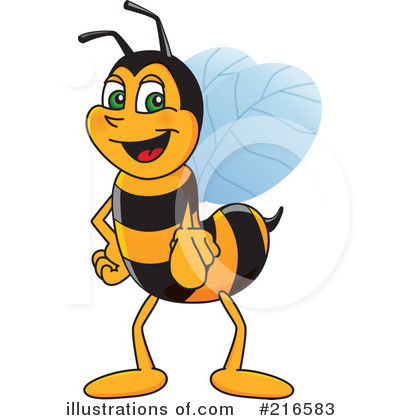 Worker illustration by toons. Clipart bee character
