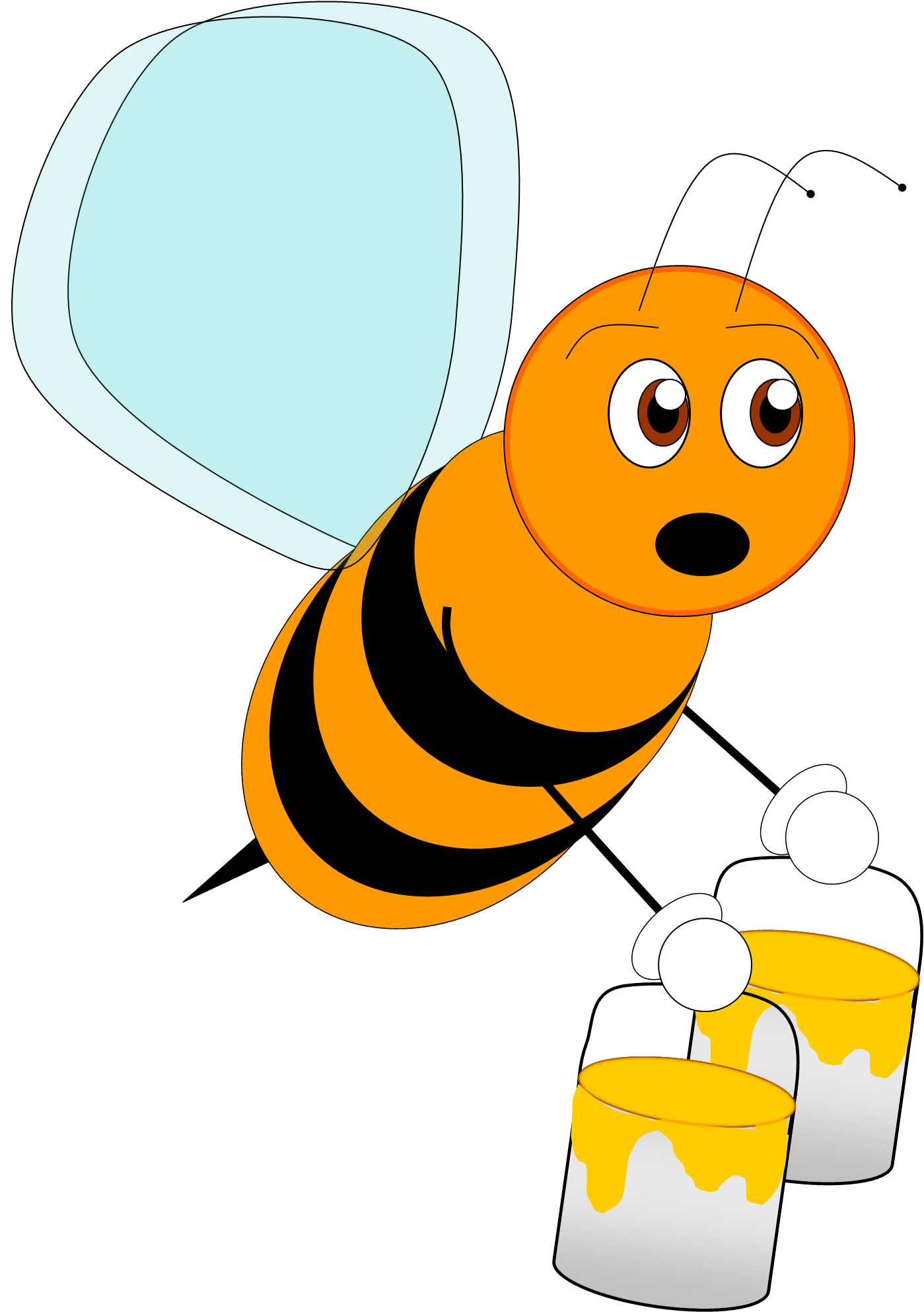 Clipart bee character. Images free download best
