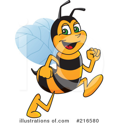 Clipart bee character. Worker illustration by toons