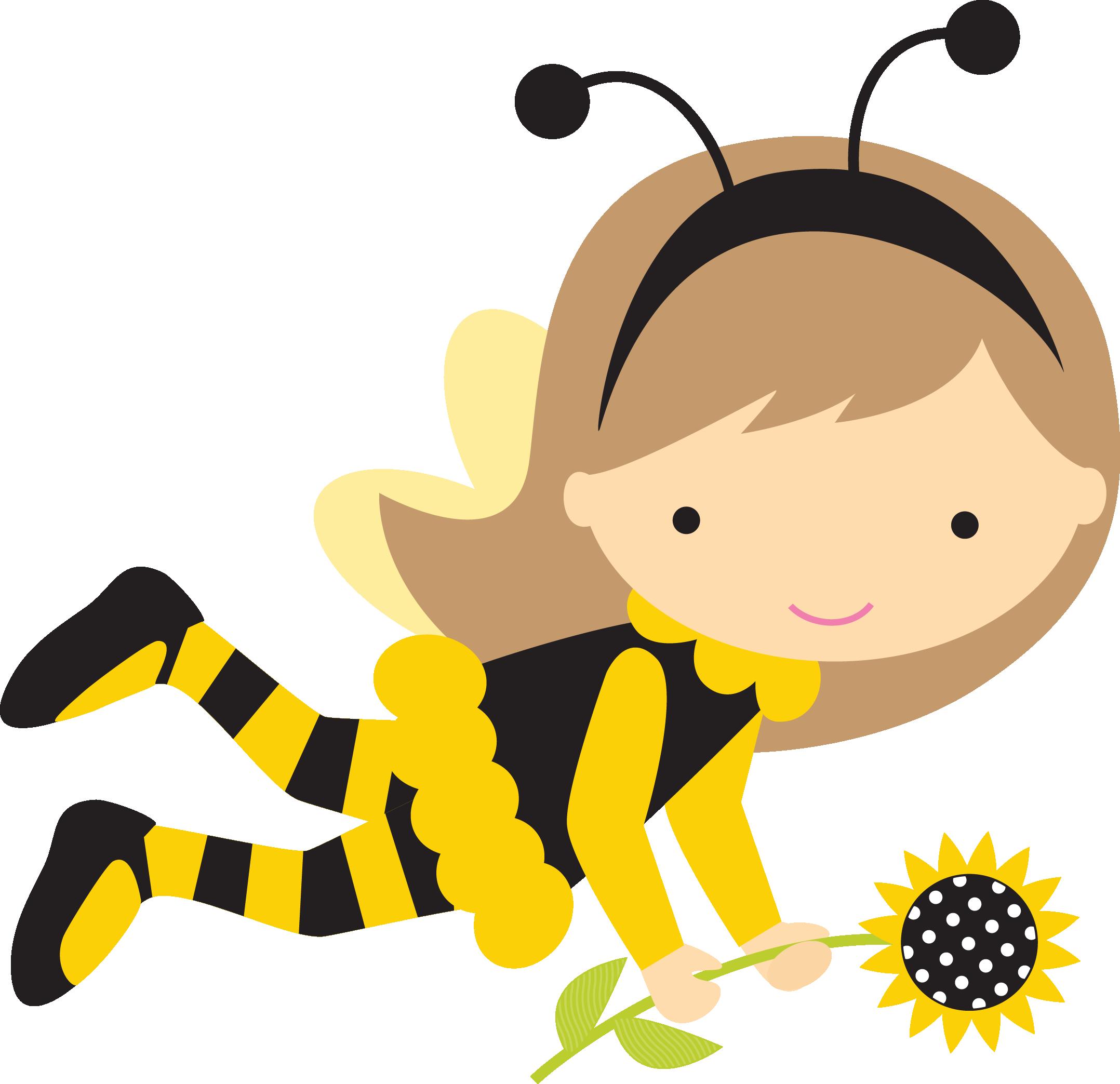Menina abelha pesquisa google. Hearts clipart bee