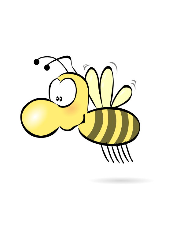 Free stock photo illustration. Clipart bee clear background