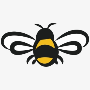 Free bees cliparts silhouettes. Clipart bee clear background