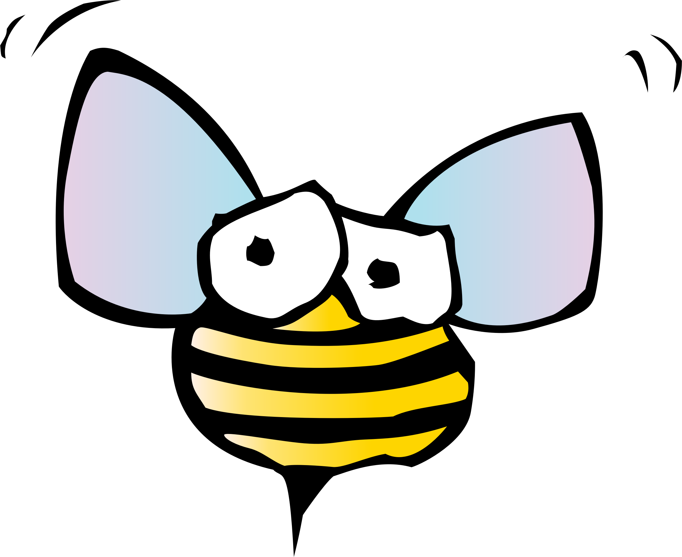 Bee big image png. Insect clipart spring