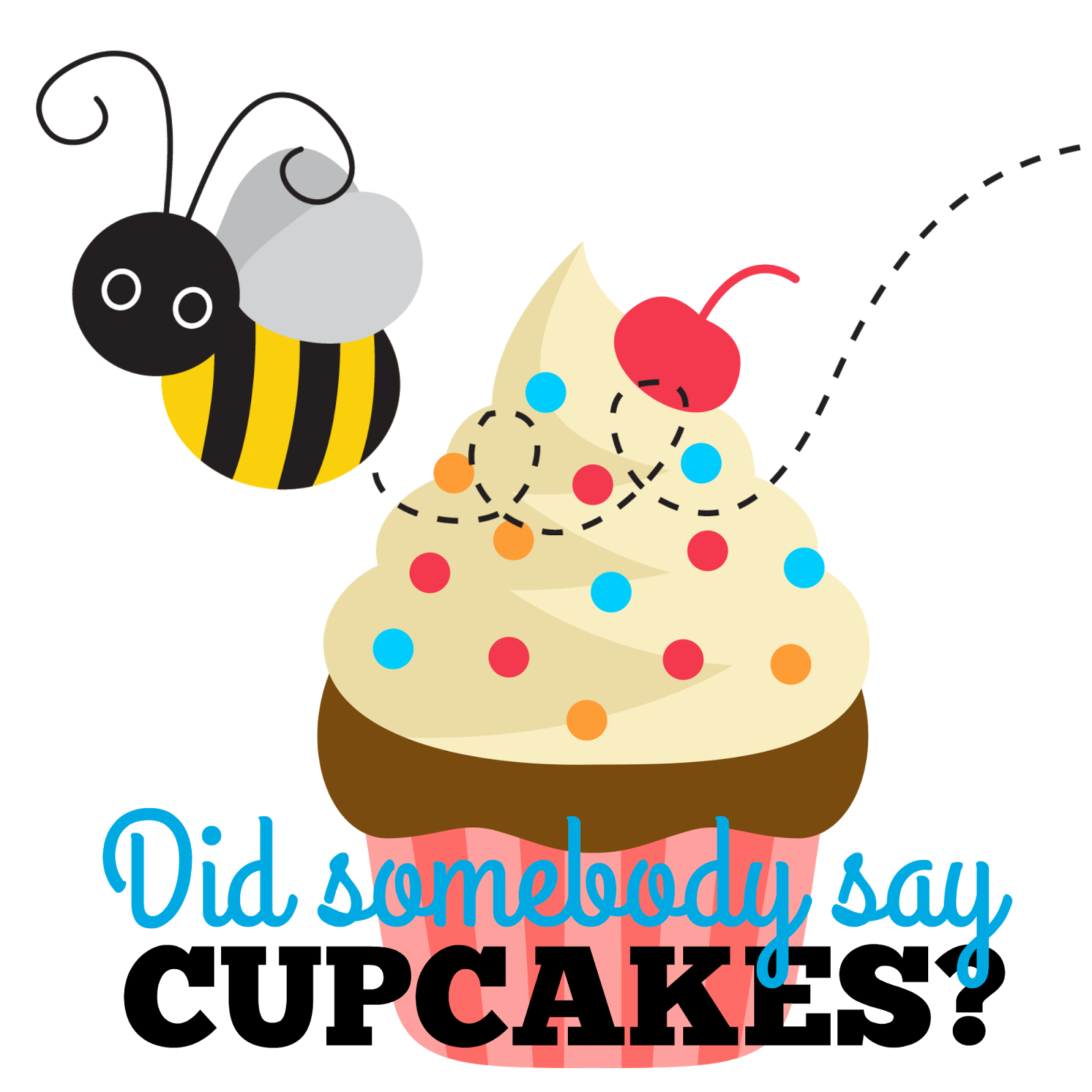 Clipart bee cupcake. Life is sweet designs