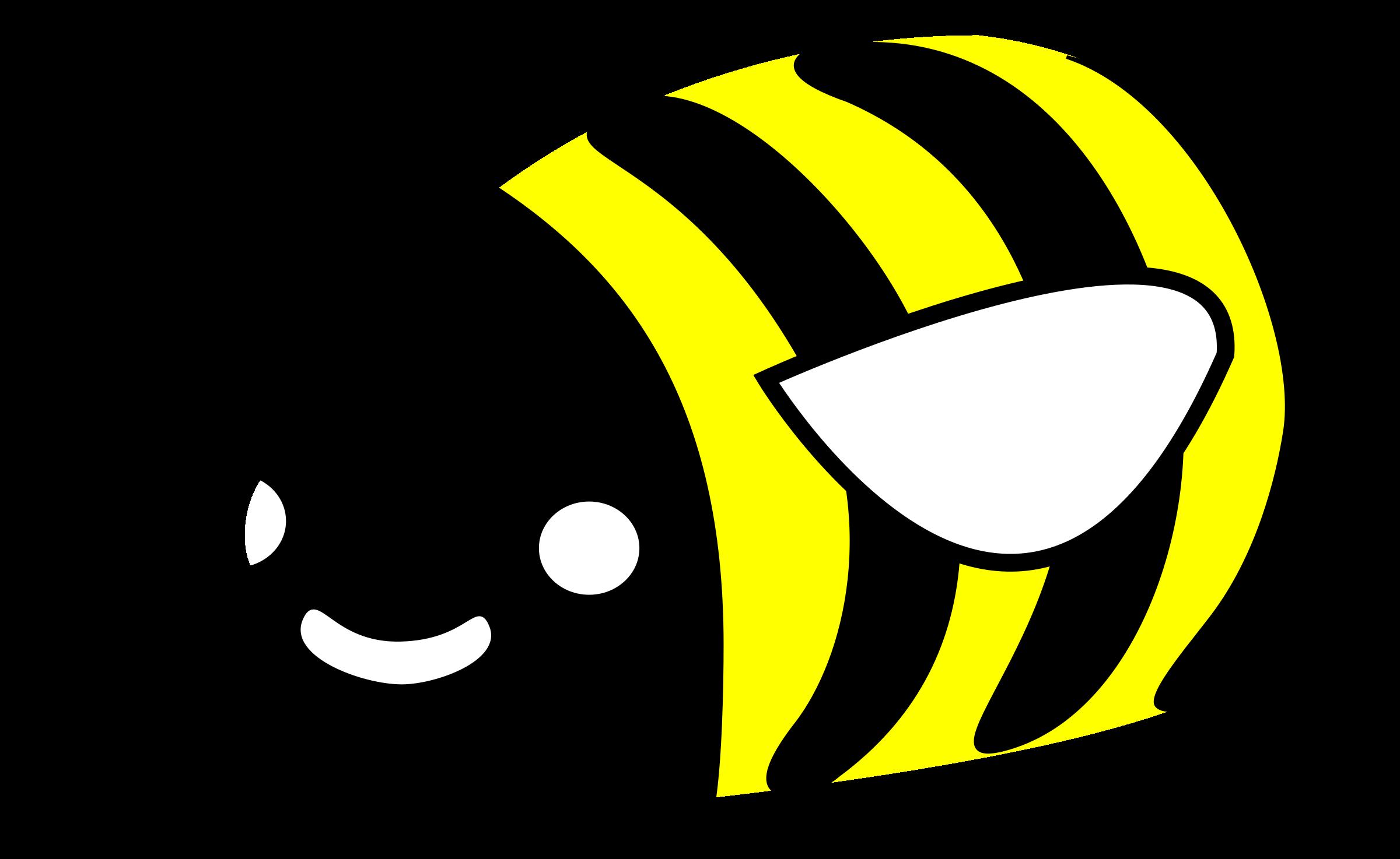 Cute bumble big image. Kawaii clipart bee