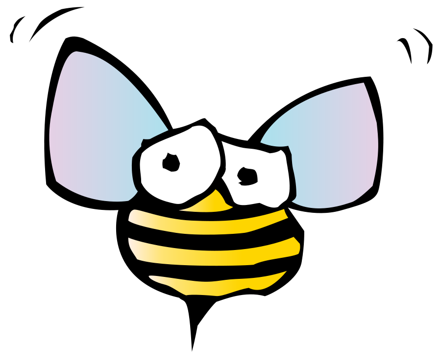 Insects clipart yellow bug. Free cartoon bumble bee