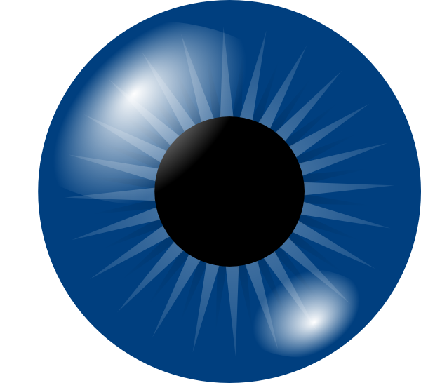 Cartoon eyes dark eye. Clipart present something blue