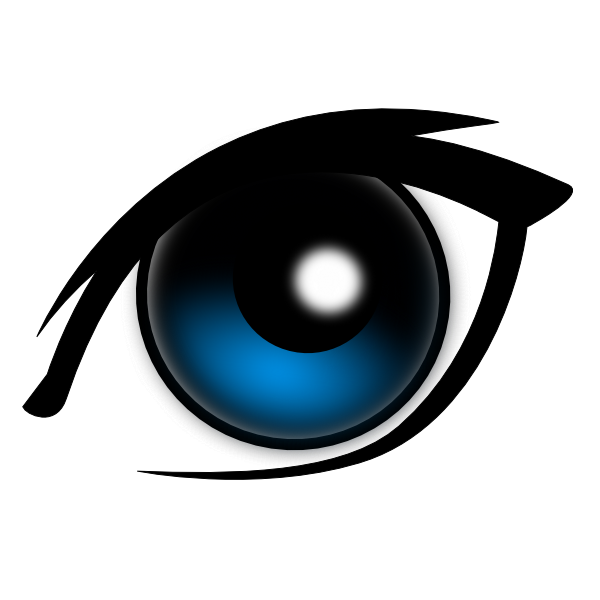 All eye seeing force. Eyes clipart mascara