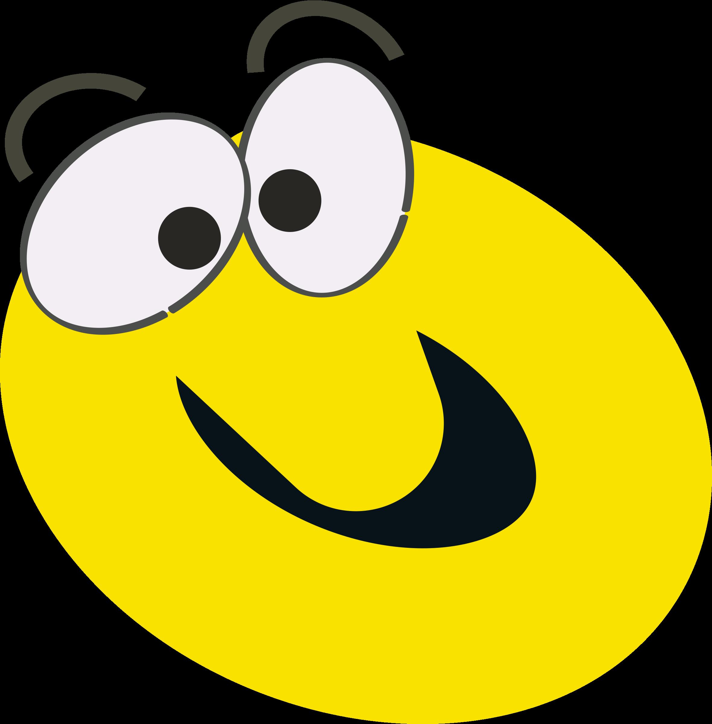 Cartoon face big image. Smiley clipart animation