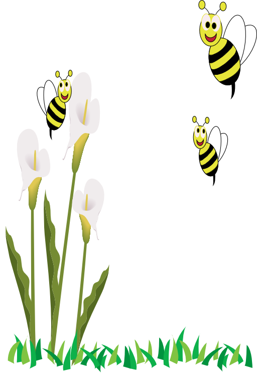 Clipart bee flower. Bees and flowers i