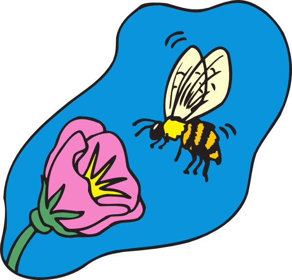 With clip art at. Clipart bee flower