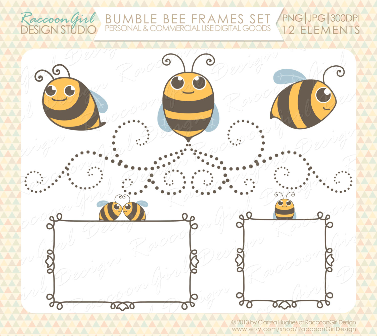 Clipart bee frame. Bumble clip art and