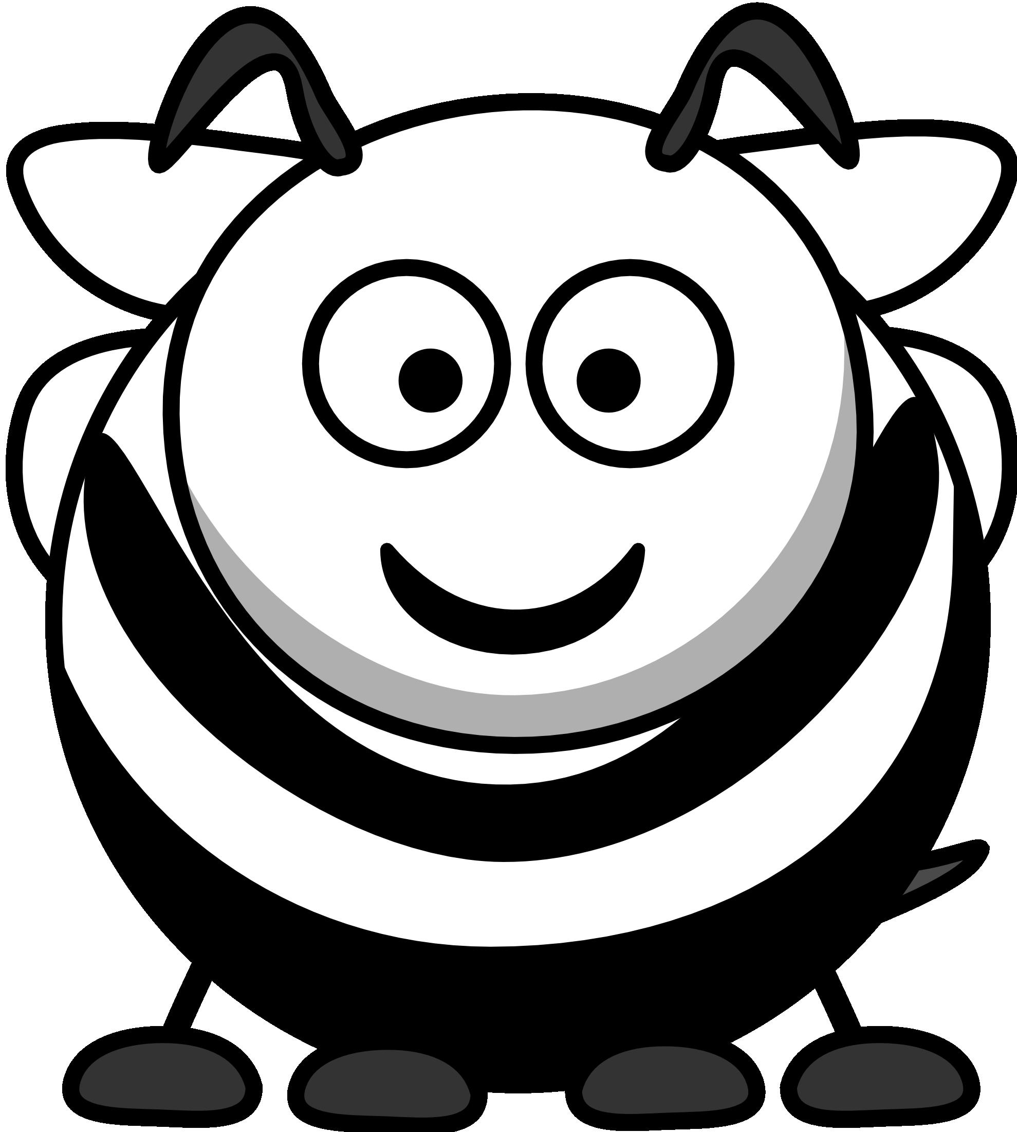 Clipart bee head. Black and white panda