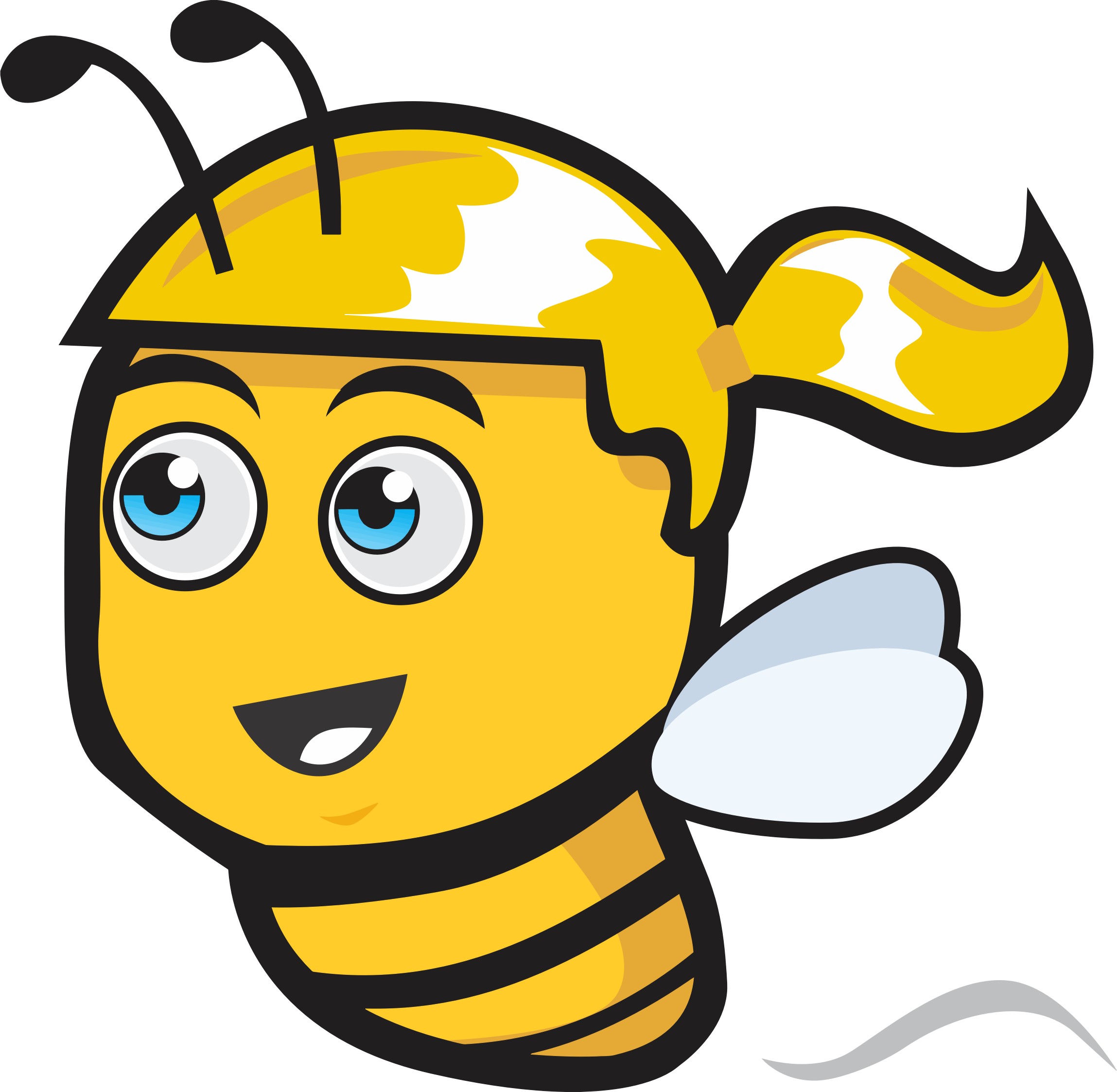 Female big image png. Clipart bee head