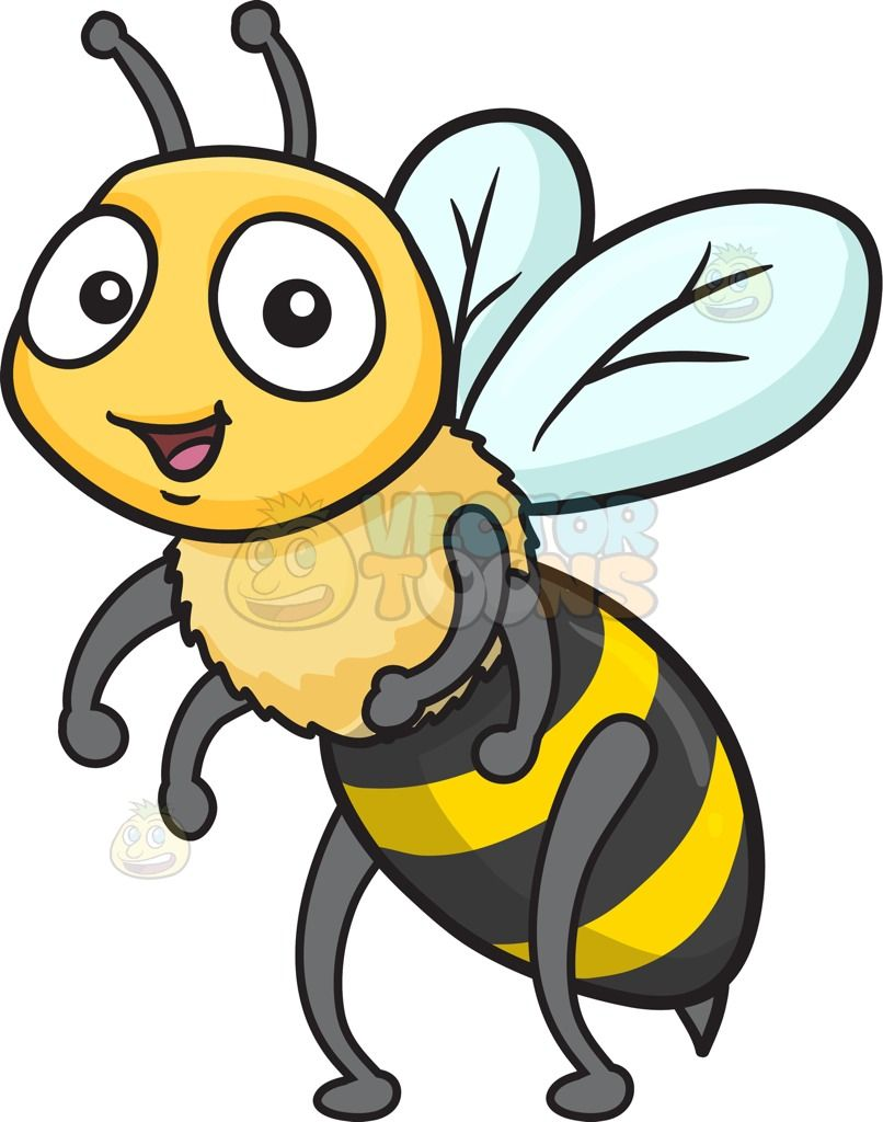 A giddy cute with. Clipart bee head