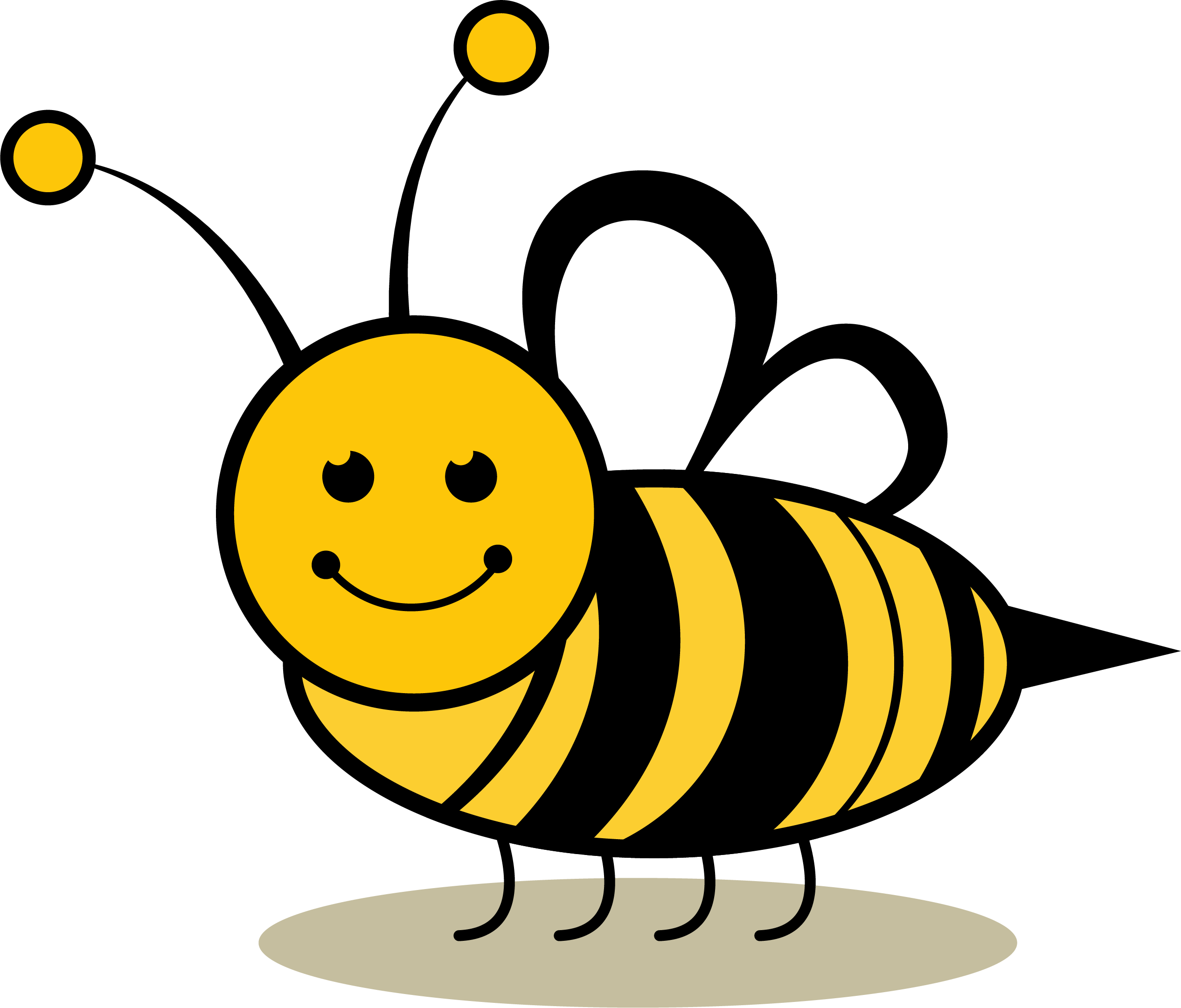 Insect clipart honey bee. Clip art smile transprent