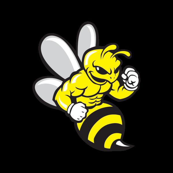 Clipart bee hornet. Printed vinyl wasp bodybuilder