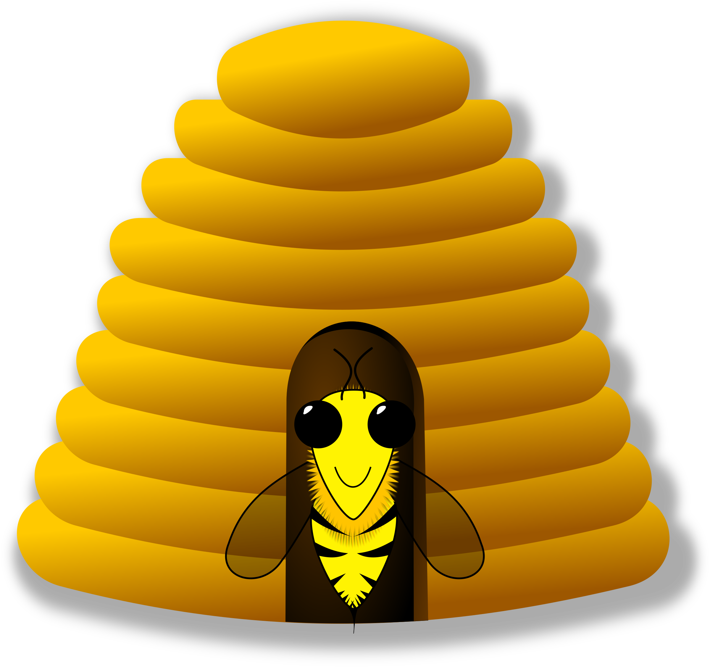 clipart bee house